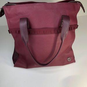 Lululemon purple workout tote bag